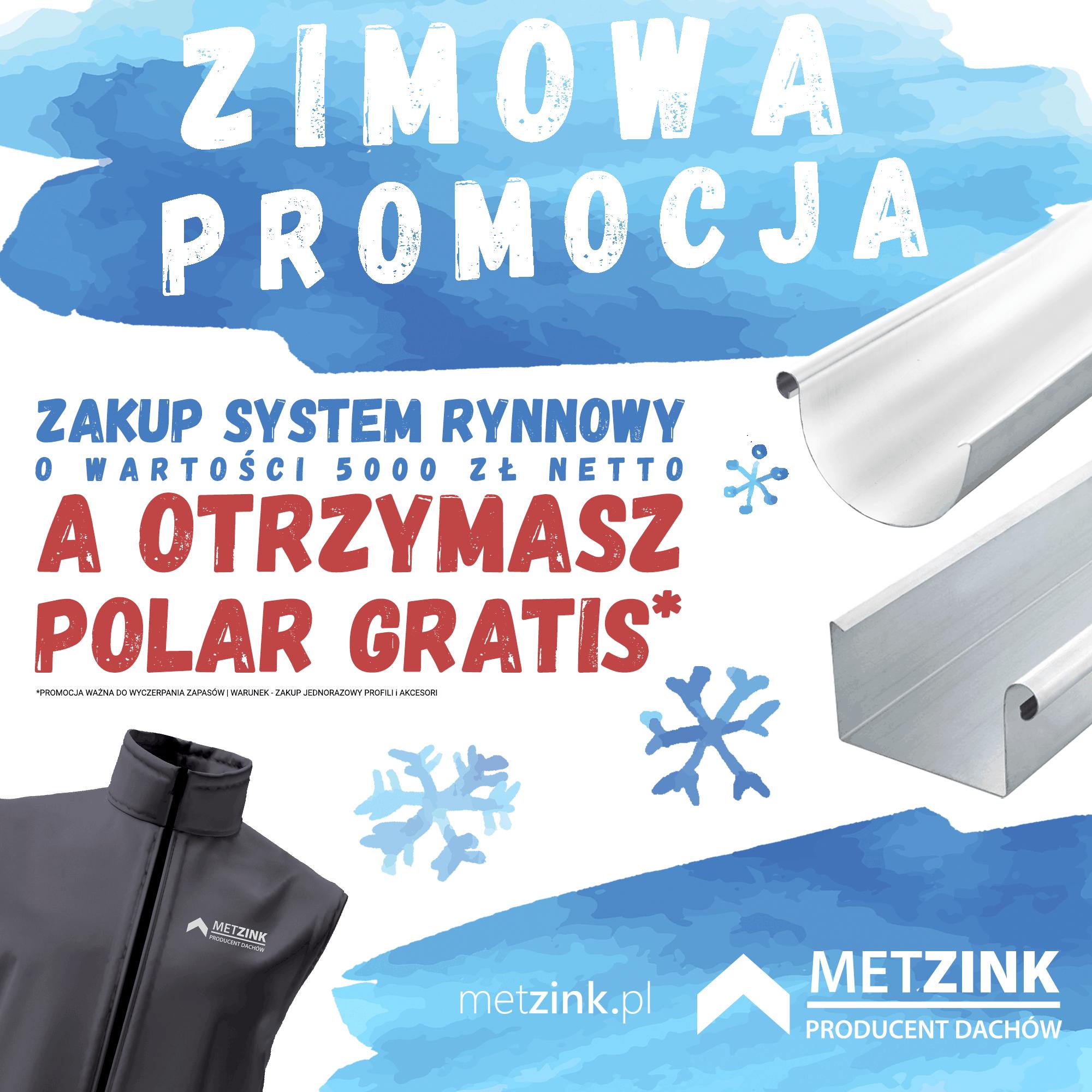 Promocja zimowa - rynny wersja 2
